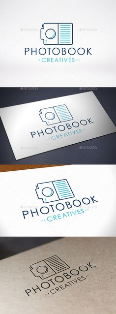Photo Book  - Logo Design Template Vector #logotype Download it here: http://graphicriver.net/item/photo-book-logo-template/8993242?s_rank=1540?ref=nexion