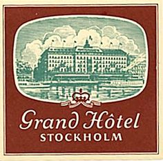 Vintage Luggage Stickers | Vintage Luggage Label: Grand Hotel Stockholm (Luggage Labels) at ...