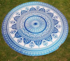 Mandala 72 Inches Roundie Tapestry Wall hanging Beach Throw Yoga Mat Towel Round #Rockfield #Modern