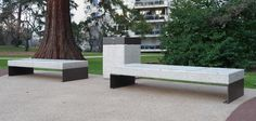 "Bench made up of a reconstituted marblestone/granite support surface, available in the full linear version, with a ½ hole, 1 or 2 holes or in the 45° section version. The full linear version and with 1 hole is also available in exotic wood. Supports are available in four versions: ""empty"" in steel plate, ""full"" in …"