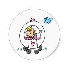 Princess In Carriage Sticker