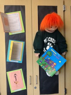 """Mystery book bulletin board was inspired after the Pre-Kindergarten students read the book """"Read Anything Good Lately."""""""