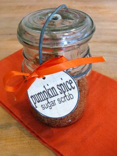 Pumpkin Spice Sugar Scrub.  I will always smell like my favorite time of the year!!