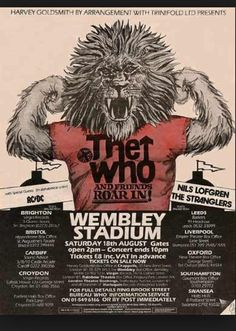 The Who, AC/DC, Nils Lofgren and The Stranglers.