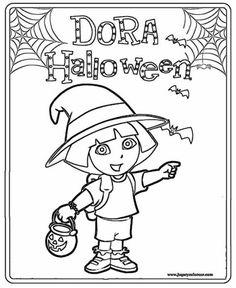 coloring pages dora halloween special | Colorear dibujos de Dora la Exploradora. | foami ...