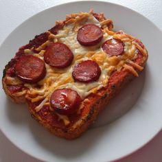 Etre Radieuse: Samedi Bistro: Croque-Monsieur Pizza Piquant