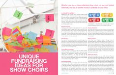 Unique Fundraising Ideas for Show Choirs - Productions Magazine