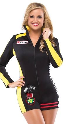 Rev your engines this Halloween with the selection of women's sexy racecar driver costumes and accessories from Lingerie Diva. Cute Baby Costumes, Sexy Adult Costumes, Cool Costumes, Costumes For Women, Costume Ideas, Race Car Costume, Cop Halloween Costume, Halloween Customs, Cheerleader Costume