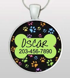 Just ordered Willy this Custom Pet ID Tag by PoppysPets on Etsy :)