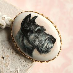 Vintage Scottish Terrier Cameo Brooch by NevermoreVintage on Etsy, $12.00