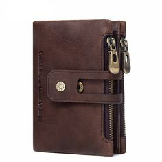 4fc588db9 Genuine Leather Men Wallet Small Men Walet Zipper&Hasp Male Portomonee  Short Coin Purse Brand Perse Carteira For Rfid