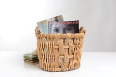Liven Up Your Bathroom With Wicker Furniture – Wicker Decor Furniture Care, Furniture Making, Wicker Patio Furniture, Laundry Basket, Wicker Baskets, Mid Century, Rustic, Make It Yourself, Etsy