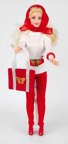 Barbiekleidung mit Leggings, Tasche, Schuhen von ESK Multistyle - herzlich willkommen! auf DaWanda.com