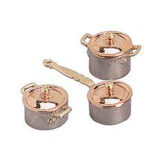 Mini Six Piece Copper Pot and Pan Set❤❤❤