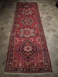 Persian Hamadan Khamse Interior Decor Rug 213 x 122 cm Handmade 4x7 Old-World