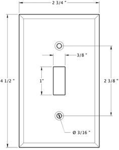 Image Result For Light Switch Plate Dimensions Covers Plates Wood