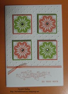Thanks by Michelle H - Cards and Paper Crafts at Splitcoaststampers