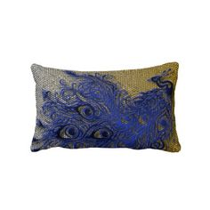 """Peacock Pillow $60 Throw Pillow 13"""" x 21""""  Accent your home with custom pillows. Made of 100% grade A cotton. The perfect complement to your couch, custom pillows will make you the envy of the neighborhood.      Sizes 20""""x20"""" (square) and 13""""x21"""" (lumbar).     100% grade A woven cotton.     Fabric is made from natural fibers, which may result in irregularities     Made in the USA.     Hidden zipper enclosure; synthetic-filled insert included.     Machine washable."""