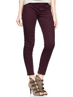 Red 1969 ankle zip legging jeans from Gap