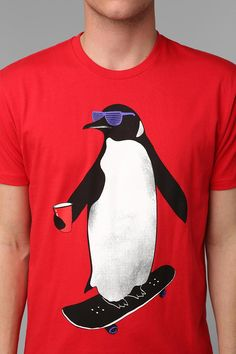Penguin Skateboarding Tee #urbanoutfitters
