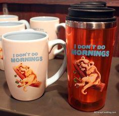 Animal Kingdom Mugs - I Don't Do Mornings. This is soooo meeee!!!! I need this cup and mug set. XD