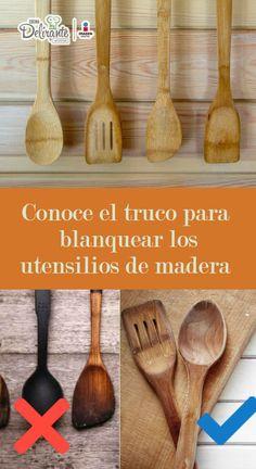 Este es el truco para blanquear los utensilios de madera