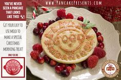 Good morning pancake molds are easy to use and make a special family breakfast for your family.  Dress it up with some fruit or nuts to make your food almost too pretty to eat! On sale for $9.99.