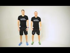 TheLeanMachines - John and Leo do a 10 Minute Interval Workout, alternating knee ups (running on the spot) with squat thrusts, jump squats, and burpees. Lean Machine, Youtube Workout, Hiit, Cardio, Knee Up, 10 Minute Workout, Jump Squats, Interval Training
