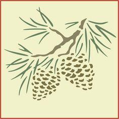"Botanical-Trees-Pine Cone~ Pine Cone Stencil, measures 5.5"" x 5"", $12.95."