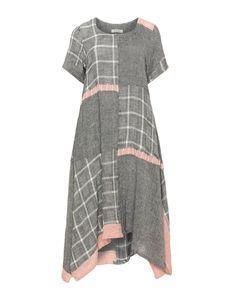 Linen blend midi dress by zedd plus. Shop now
