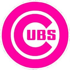 MLB Chicago Cubs Logo PINK