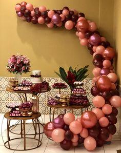 Festa Rosé com Marsala Decoração, montagem e acervo: @decoreloccariri