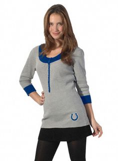 Touch By Alyssa Milano Indianapolis Colts Heather Grey Thermal Tunic