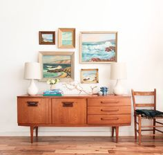 How to style a bookcase or credenza by Emily Henderson