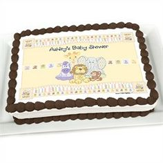 Zoo Crew - Personalized Baby Shower Cake Image Topper
