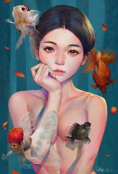 어장관리, Sen Baek on ArtStation at https://www.artstation.com/artwork/PnozB
