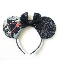 Kylo Ren Custom Force Awakens Star Wars Mickey Ears, Disneybound Kylo Ren