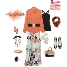 Be CREATIVE! Be Wonderful!, created by muslimahz on Polyvore featuring the Stella & Dot - Capri Chandelier Earrings in Coral