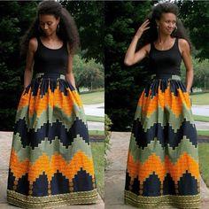 afrikaanse maxi rok met zakken mode afrikaanse kleding lange maxi rok jurk