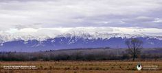 The mighty Fagaras Mountains as seen from Sibiu, Romania