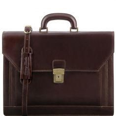 Napoli - Leder Aktentasche mit 2 Kompartimenten - TL141348 - Tuscany Leather