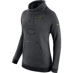 9fe9f7a5b775 Nike Women s Chicago Salute to Service 2016 Rally Funnel Neck Pullover