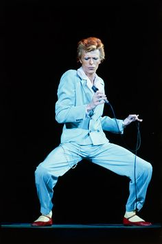 Come to think of it, Bowie reminds me of Mr. K!!! DO YOU FEEL ME?!?! David Bowie in concert during his Diamond Dog tour in Los Angeles, circa 1974.