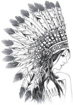 Resultado de imagem para american native draw