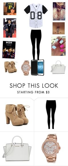 """Hanging out w/ Neymar and his friends"" by robertsjanae ❤ liked on Polyvore featuring TURNOVER, Bellybutton, Suarez, Michael Kors and rooCASE"