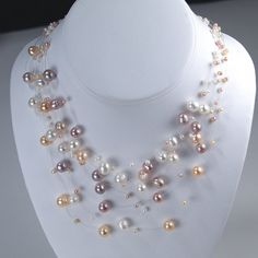 Handmade natural color Freshwater Pearl floating by pearlreef, $35.00
