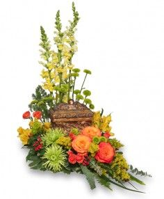 Order Meaningful Memorial Cremation Arrangement (urn not included) from Sandy's Flower Shoppe - Morehead City, NC Florist & Flower Shop. Memorial Flowers, Memorial Urns, Memorial Ideas, Flowers For Men, Seasonal Flowers, Funeral Flower Arrangements, Funeral Flowers, Church Flowers, Flower Shop Network