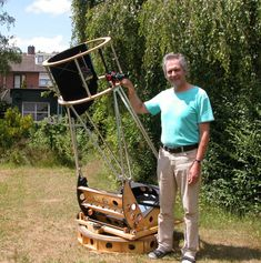 "Light Weight and Light Gathering - Jan van Gastel 20"" f/3.6 flex rocker ultralight - #Dobsonian #Telescopes"