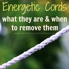 An energetic cord is an energetic connection, link, or bridge that binds you and another person (usually). They can send or receive energy or engage in bidirectional energetic exchange. Thick or thin, deep or shallow, good or bad. Find out more in this post.