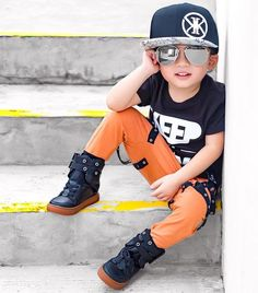 _ Check out my Suppa Swagger Raven Renegade Kicks 🔝🔝🔝They're are so comfy and effortlessly stylish! Oh MAN! What a sick collaboration by + 💣🔝🔥💯👍🏼✔ Latest Boys Fashion, Boys Fall Fashion, Toddler Boy Fashion, Little Boy Fashion, Trendy Boy Outfits, Baby Boy Outfits, Baby Boy Poses, Toddler Swag, Stylish Little Boys